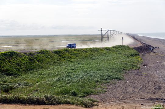 буханка пылит по дороге